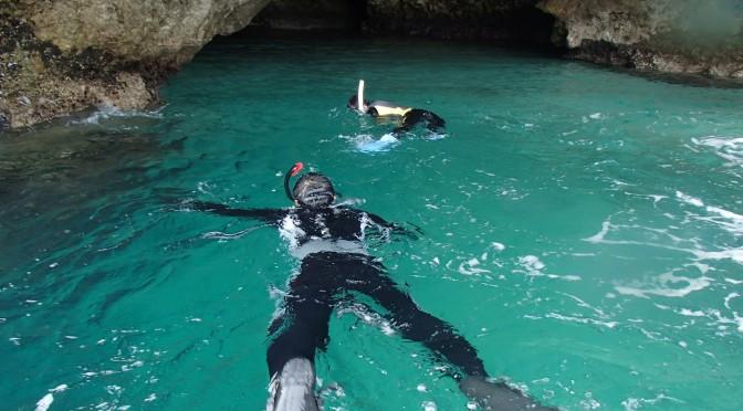 青の洞窟カヤック体験&滝あそび
