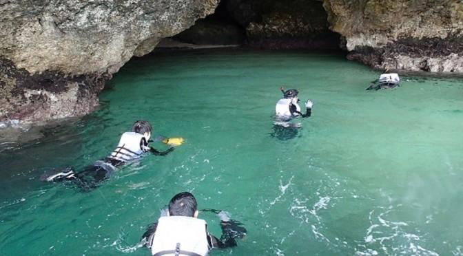 青の洞窟カヤック探検&滝あそび