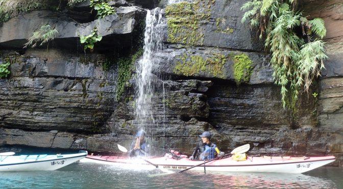 西表島秘境水落の滝へ